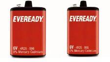 2x EVEREADY 4R25 6V Battery 6 Volt 996 PJ996 430 908 908S Lantern 4R25X 4R25RZ
