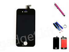 Black Front LCD Display Touch Screen Digitizer Assembly For iPhone 4S Tools Pen