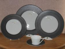 PHILIPPE DESHOULIERES *NEW* GALILEUM GRAPHITE 7308 Set 3 Assiettes + 1 Tasse Cup
