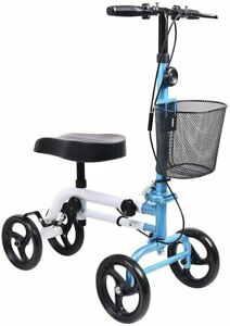 Give Me Knee Scooter Super Compact & Portable Knee Walker  Blue/White