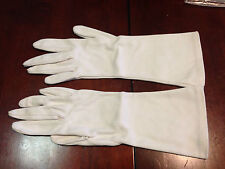 VTG  LADIES White Finished Cotton Gloves - mid lenght -