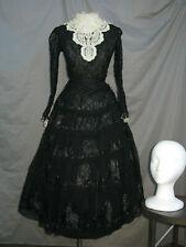 Victorian Dress Women's Edwardian Costume Civil War Reenactment Black