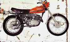 Yamaha DT2 250 1974 Aged Vintage Photo Print A4 Retro poster
