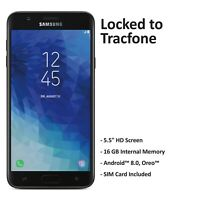 ($50 Gift Card Promotion) Tracfone Samsung Galaxy J7 Crown Prepaid Phone(Refurb)