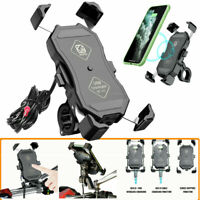 Motorcycle Phone Holder 15W Wireless + QC 3.0 USB Charger Phone GPS Mount Stands