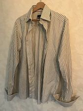 Eton Men's Fitted Pinstriped 100% Cotton Size: 16.5