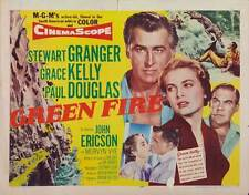 GREEN FIRE Movie POSTER 22x28 Half Sheet Stewart Granger Grace Kelly Paul