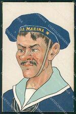 Militari Regia Marina Uniforme Umoristica cartolina XF2929