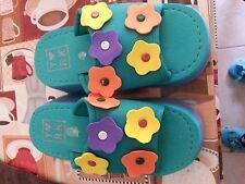 Lotto 238 ciabattine ciabatte scarpe mare bimba bimbo verdi n.27/28 20cm