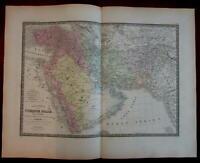 Arabia peninsula Ottoman Empire Middle East Turkey c.1840 Brue detailed map