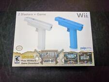 New Nintendo Wii Blasters Gun Remote Controller Shooting Games Attachment - Blue