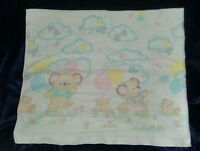 GIBSON GREETING CARDS INC KIRBY KOALA BEAR COTTON RECEIVING BABY BLANKET EUC