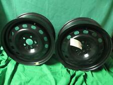 Pair 15 X 6 Black Steel Rims 01 02 Chrysler PT Cruiser NOS MOPAR 4656426AA