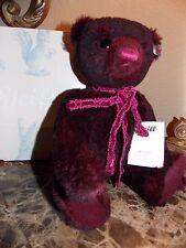 NEW STEIFF ANUSHKA ALPACA BORDEAUX LIMITED EDITION TEDDY BEAR