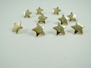 10 Gold STAR Sewing Buttons Plastic 15mm Shank