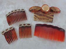 Vintage Lot of Plastic and Rhinestone Combs