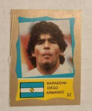 World Cup 1986 Gold Sticker Card Diego Armando Maradona - Argentina
