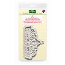 Design Mat Cake Icing Craft Embellishment Mould - Princess Tiara Banner