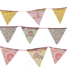 Cute Dotty Owl Patchwork Style Bunting - Childrens Bedroom NEW