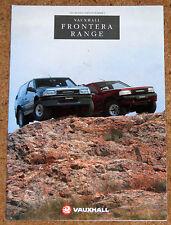 1992-93 VAUXHALL FRONTERA RANGE Sales Brochure - 2.0 Sport 3dr, 2.4i, 2.3TD 5dr
