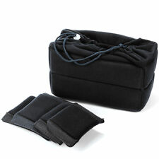 Flexible Camera Insert Bag Partition Padded Case for Nikon DSLR Lens Black LF677