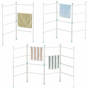 2, 3, 4 Fold Airer Clothes Drying Rack Folding Laundry Horse Metal Cloth 4 Tier
