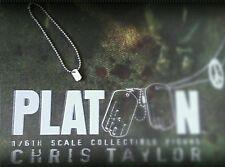 1/6 Hot Toys Platoon Chris Taylor MMS135 Dog Tag  **US Seller**