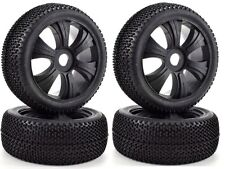 Apex RC Products 1/8 Off-Road Black Buggy Aggressor Wheels/Nub Tires #6034 2Pack