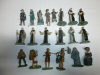 Konvolut 20 mittelalterliche Kunststoff Figuren Mönche für Elastolin Merten 4cm