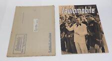 L'AUTOMOBILE ANNO I° N° 6 DEL 1939 RIVISTA MENSILE ILLUSTRATA DEL R.A.C.I. (S)