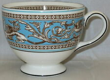 Wedgwood Florentine-Turquoise-Fruit Center,white Leigh Shape Footed Cup
