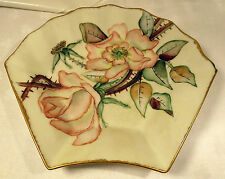TV Limoges Floral With Gold Guilding Shell Shaped Dish