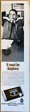 1963 Amphora Tobacco Pipes Holland Print Ad 11x3