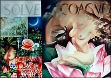 """ORIGINALE DAVID PLATT """"Solve ET coagula"""" dividono e uniscono olio su tela dipinto"""