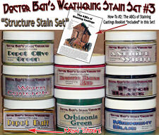 Weathering Stain Set #3-Doctor Ben's STRUCTURE SET 8-4oz Jars READY-TO-USE hbb01