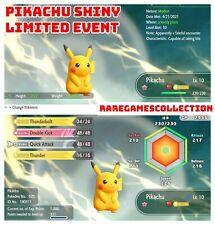 Pokemon Let's Go Pikachu Eevee ✨ SHINY ✨ 6 IV PIKACHU LIMITED EVENT FAST TRADE