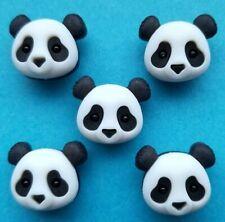 PANDA FACE Baby Black White Bear Dress It Up Craft Buttons Safari Zoo Panda Pile
