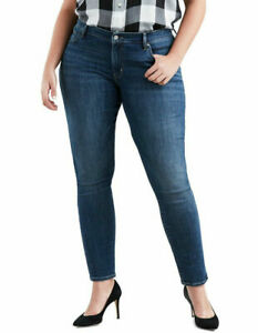 LEVI'S 711 PLUS SIZE BLUE SKINNY Jeans Women's, Authentic BRAND NEW (362550017)