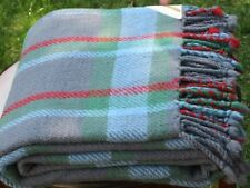100% Merino Wool Blanket,Plaid,Woven,Organic,Soft,Twin Bed Size,Free Shipping