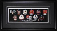 Chicago Blackhawks Jersey Evolution NHL Hockey Memorabilia Collector Frame