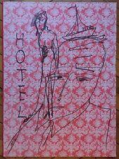 Milshtein Zuy encre sur carton signée Paris Tel Aviv Genève Londres Metz Hotel