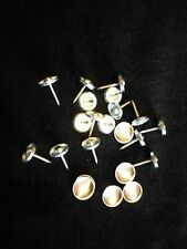 10 X NO 30 NAIL BACK UPHOLSTERY BUTTONS MADE USING YOUR FABRIC 17MM NAIL