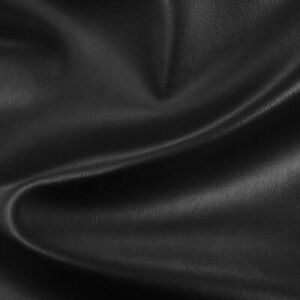 HEAVY DUTY BLACK FAUX LEATHER LEATHERETTE VINYL PVC UPHOLSTERY MATERIAL FABRIC
