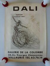 AFFICHE SALVADOR DALI 1984 GALERIE DE LA COLOMBE A VALLAURIS