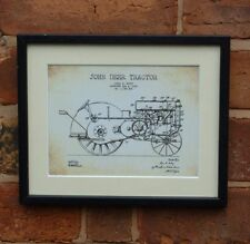 USA Patent Drawing vintage JOHN DEER TRACTOR farming MOUNTED PRINT 1930 farm