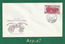 (Fc1092-6) Czechoslovakia First Day Cover 1964 The 100 years of fire protectio