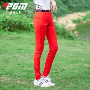 PGM Golf Women Pants High Elastic Ladies Trouser Breathable Slim Quick Dry Pants