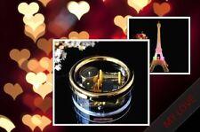 LED LIGHT PARIS EIFFEL TOWER & CIRCLE WIND UP MUSIC BOX ♫ MARY HAD A LITTLE LAMB