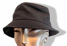 Hermes Black Lambskin Wool and Cashmere Bucket Hat Bob, Sz58, New!