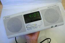 Culto radio Sony Dream Machine icf-cs750 gris relojes radio radio despertador FM/MW 1990